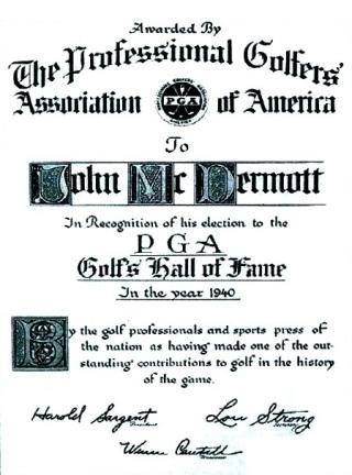 McDermott-1940 Hall of Fame