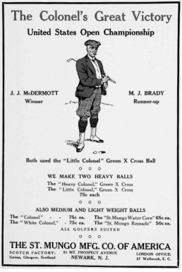 1911 Colonel golf ball-Aug (AmG)